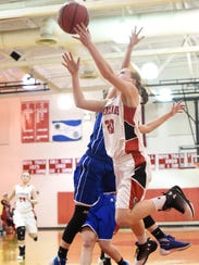 Riverheads' Blake Bartley takes the ball up and shoots