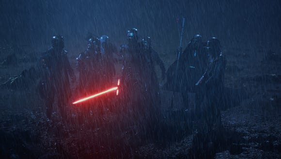 Kylo Ren (Adam Driver, center) and the Knights of Ren