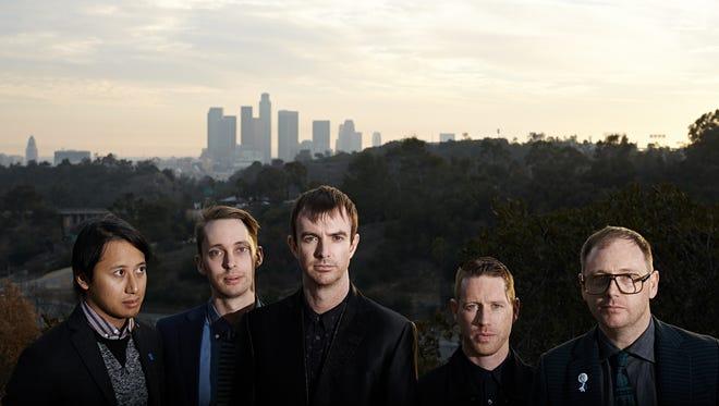 Australian rock group Birds of Tokyo, from left: Glenn Sarangapany, Ian Berney, Ian Kenny, Adam Weston and Adam Spark.