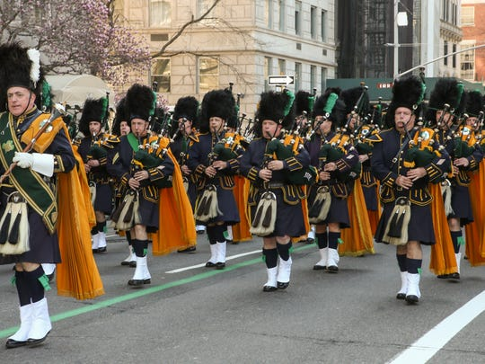 Pipe and drum bands will parade through New York City during the NYC St. Patrick's Day Parade, just as they have since 1762.