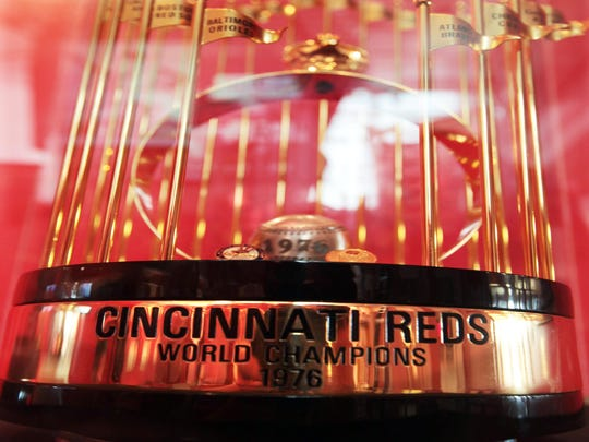 The 1976 World Series trophy stands as a testament