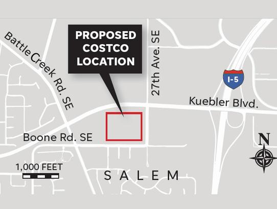 Proposed location of a new Costco location.