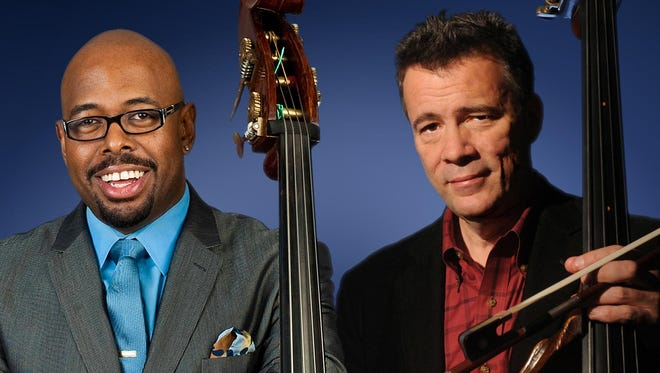 Christian McBride and Edgar Meyer perform Friday at Cornell;s Bailey Hall.