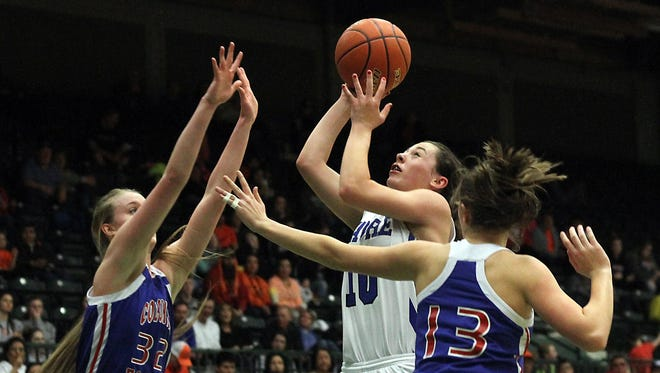 Havre's Kyndall Keller scored a game-high 15 points to help lead the Blue Ponies to an Eastern A title-game win.