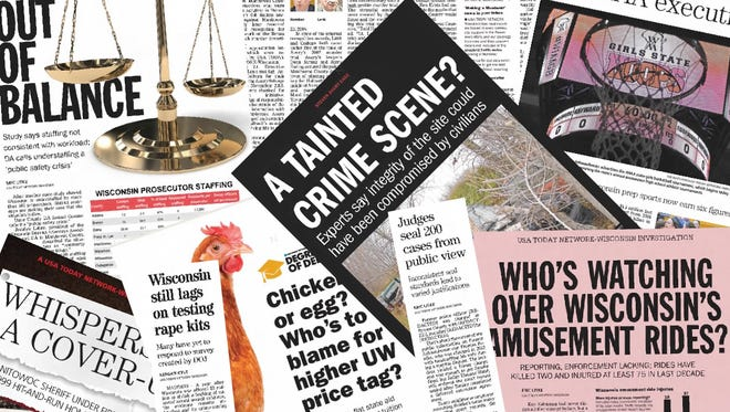 A collection of 2016 newspaper clips from the USA TODAY NETWORK-Wisconsin Investigative Team.