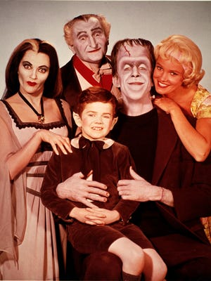 'The Munsters,' a 1960s comedy series, featured Yvonne DeCarlo, left, Al Lewis, Butch Patrick, Fred Gwynne and Beverly Owen.