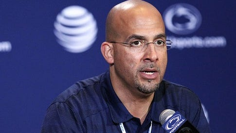 Penn State coach James Franklin spoke Tuesday about the Lions' first depth chart of 2016 and taking on Kent State in their season opener Saturday.