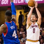 <p>No. 8: Kevin Love played for the USA in 2007. The Lake Oswego star scored 13 points and grabbed eight rebounds in the USA's 100-80 win. Love is a three-time All-Star, and has career averages of 18.7 points and 11.9 rebounds per game.</p>