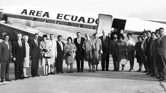 This day in Ames History, Aug. 9, 1966. Loja, Ecuador become a Sister City with Ames. The Sister Cities program was started by President Eisenhower as a way to strengthen partnerships between the United States and other countries. In December 1966, Mayor Don Newbough, center, and other City Council members traveled to Loja and presented the city with a brick from the Ames Municipal Building, which was then cemented into the new Loja City Hall. Ames was also a Sister City to Frýdek-Místek, Czech Republic and Enzen City, Japan. Today we call them Partner Cities, and Ames is currently partnered with Koshu City, Japan. For more historical information, visit www.AmesHistory.org.