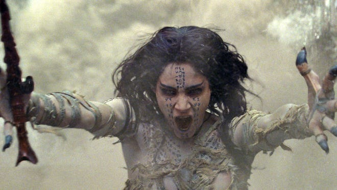 "Sofia Boutella in a scene from ""The Mummy."""