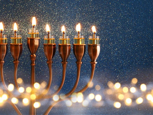 Low key Image of jewish holiday Hanukkah background