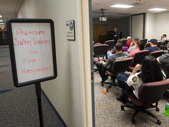 Pensacola Police officer, Jimmy Donohoe teaches a class