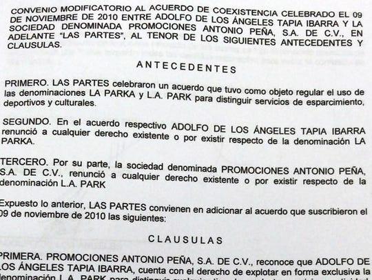 Este es el contrato donde AAA renuncia a los derechos