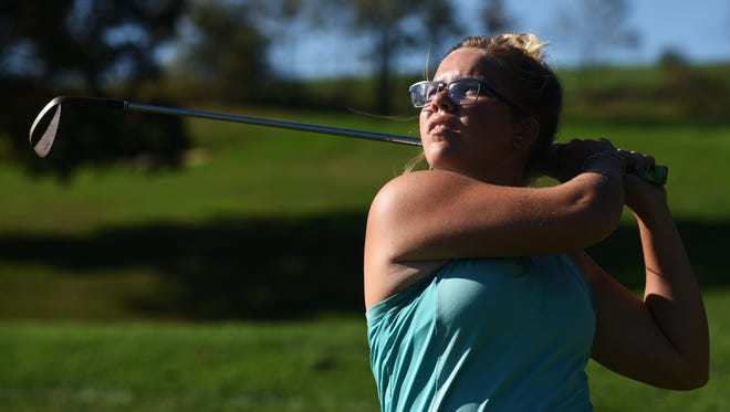 Zanesville High School's Jewel Goins is believed to be the first girl to compete in the Division I boys state golf tournament when she joins her teammates in Columbus on Friday.