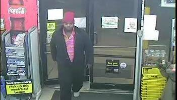 The Escambia County Sheriff's Office says this suspect captured on video surveillance robbed a Dollar General at gunpoint.