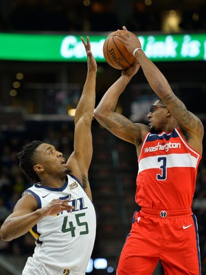 Washington guard Bradley Beal  (right) has boosted the Wizards while John Wall has been out.