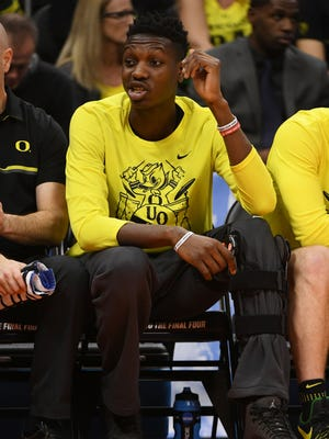 Oregon Ducks forward Chris Boucher tore an ACL in the Pac-12 tournament.