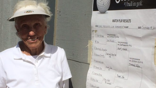 Ida Tramel, 91, won the Olivas Links Senior Women's Match Play title.
