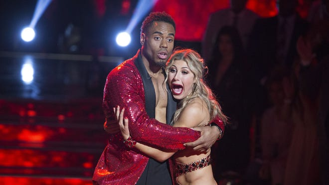 'Dancing With the Stars' champ Rashad Jennings, hugging partner Emma Slater, sure looks surprised just after hearing they won.
