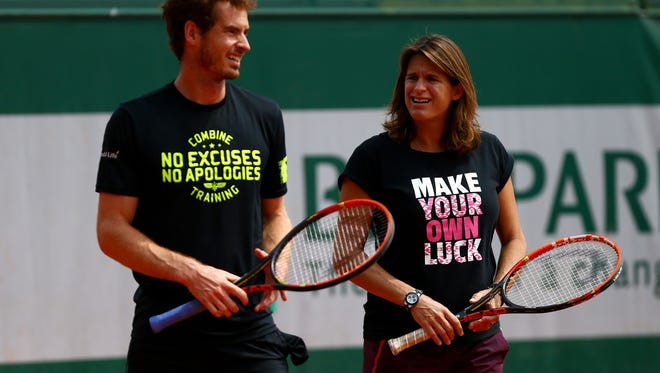 When British player Andy Murray, left, selected Amélie Mauresmo as his coach just after the French Open a year ago, he didn't expect he would become a symbol of feminism in a post-modern sports world.