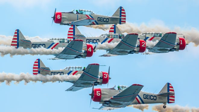 The GEICO Skytypers will perform at the Ocean City Air Show on June 17-18, 2017.