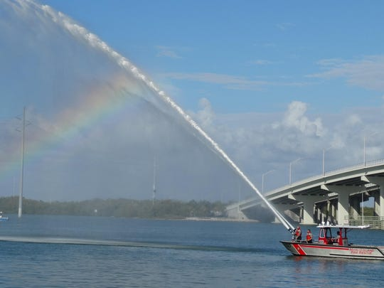 The new Marco fire rescue boat is put into service.