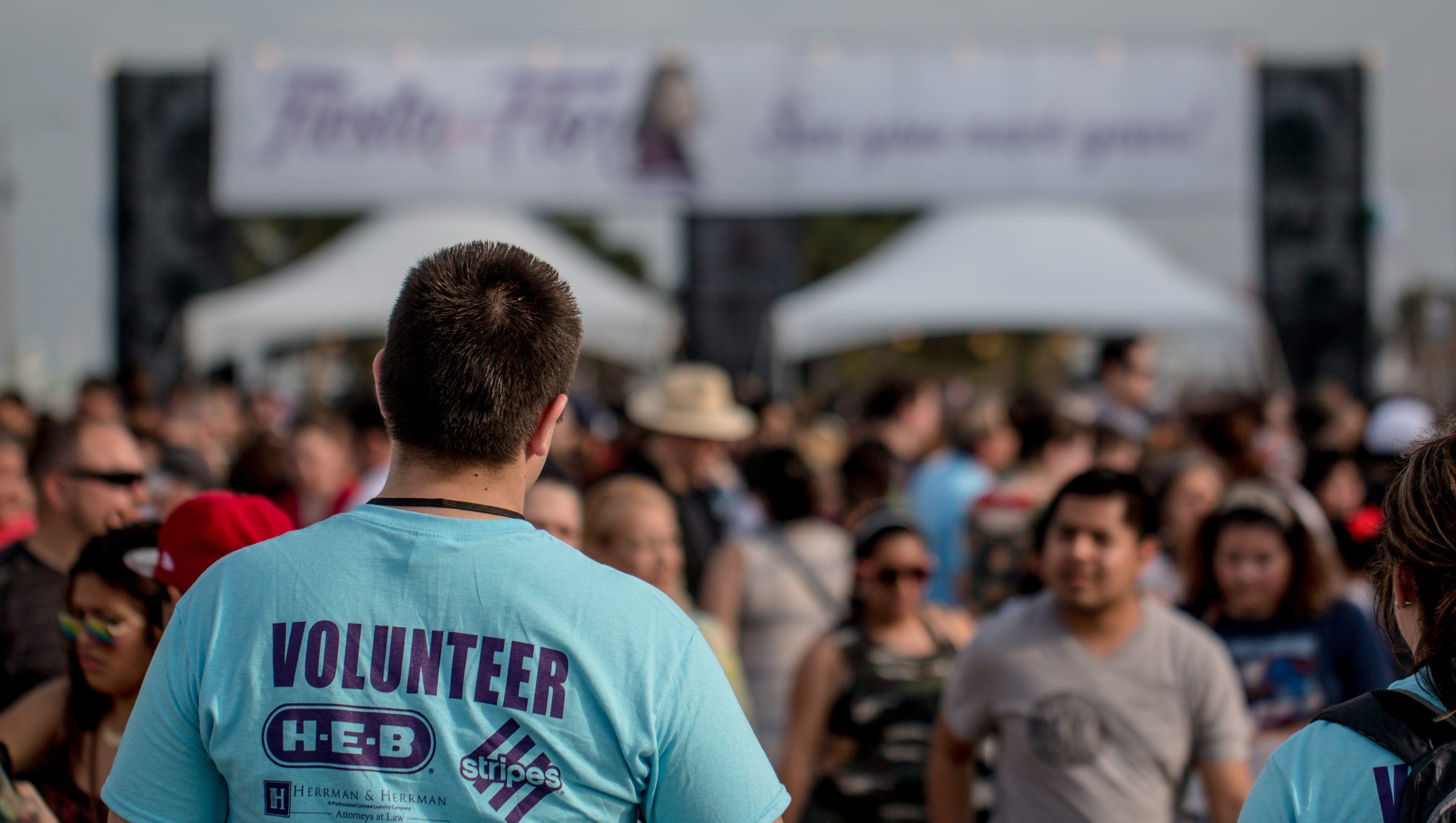 why do volunteers commit to fiesta de la flor