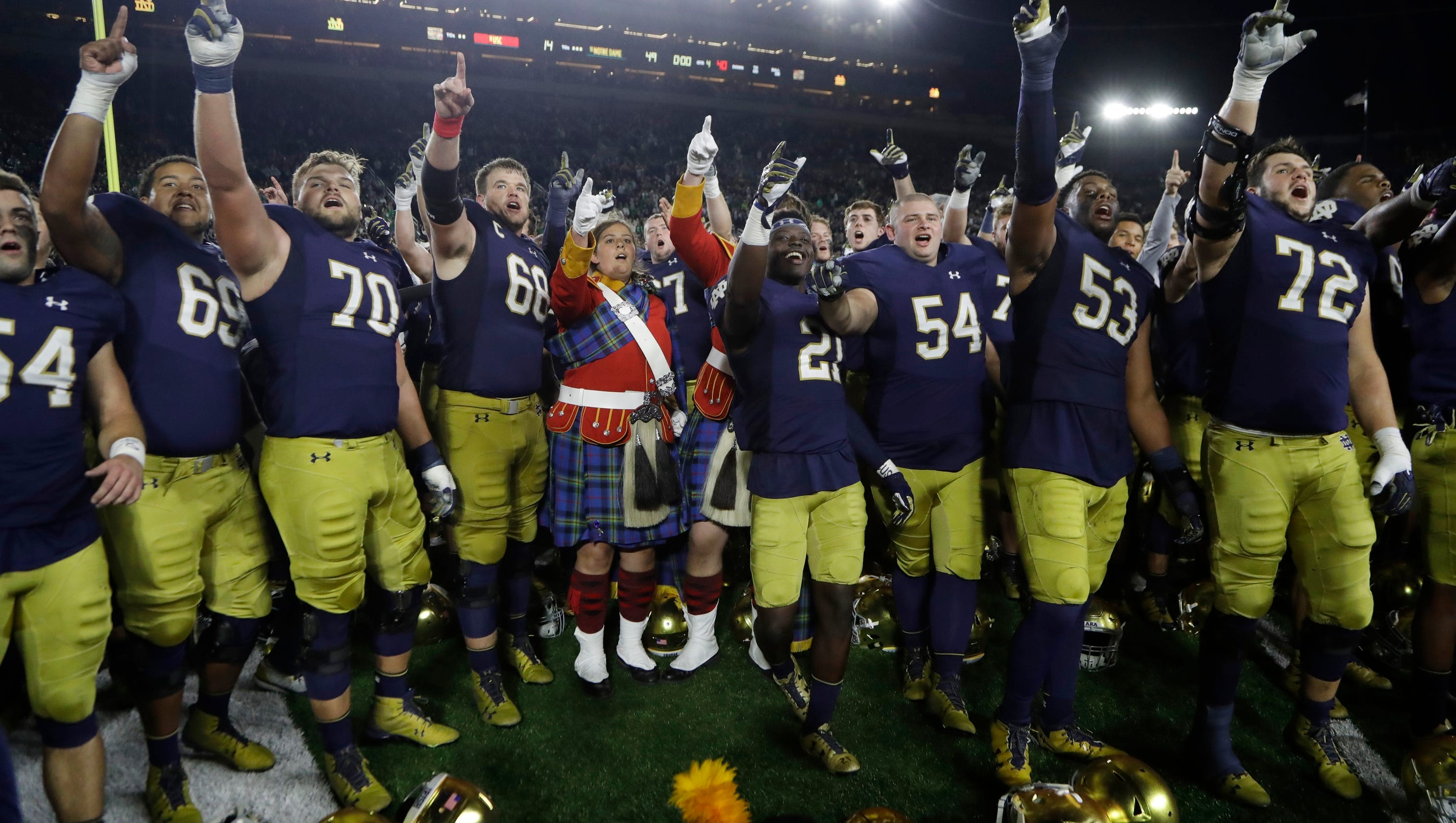 Notre Dame joins College Football Playoff talk with tough ...