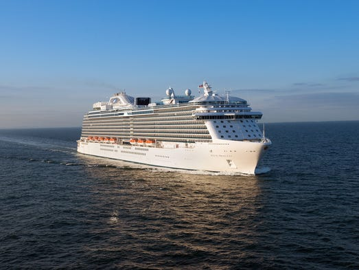 Princess Cruises' newest ship, the 3,560-passenger Royal Princess, debuted in June 2013 in Southampton, England. What's the vessel like? USA TODAY cruise editor Gene Sloan offers a photo tour.