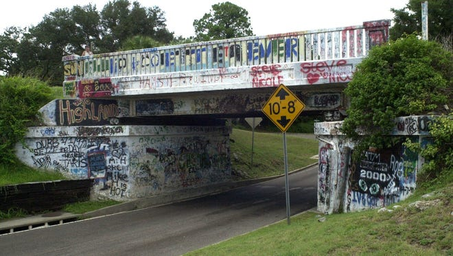 The Graffiti Bridge on 17th Avenue is one of many well-known Pensacola landmarks.