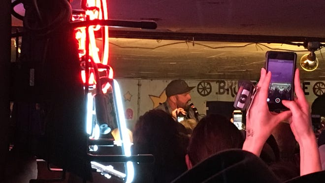 Garth Brooks on stage March 17, 2017 at the Broken Spoke in Austin, Tex.