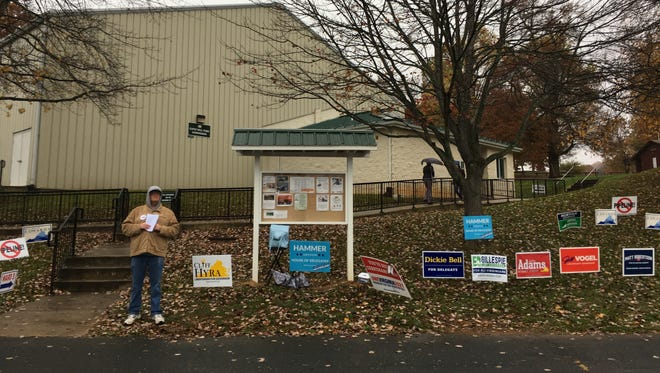 Gypsy Hill Park Gym, the polling place for Ward 3 in Staunton, Va., on Election Day 2017.