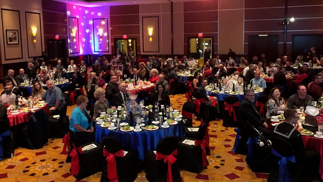 Red, white and blue colors were the hallmark of the 4th annual USO Spirit of Hope Gala.