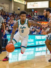In his first season with the Eagles, junior point guard Brandon Goowin leads FGCU with a 16.5-point average. FGCU (11-5) opens ASUN play at Stetson on Saturday.