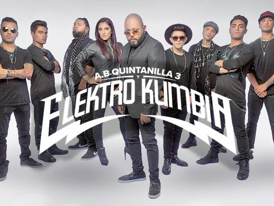 As part of Ruidoso Down's Mexican Fiesta, AB Quintanilla Elektro Kumbia will perform at 8 p.m., June 23.