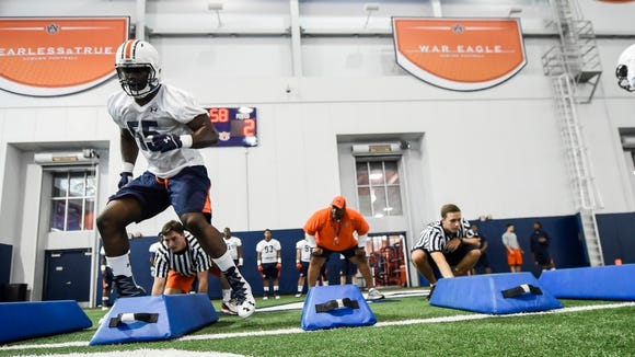 Carl Lawson Auburn football starts fall camp on Wednesday,