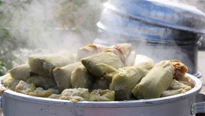 Festival patrons are estimated to digest over 100,000 tamales during the two day festival.