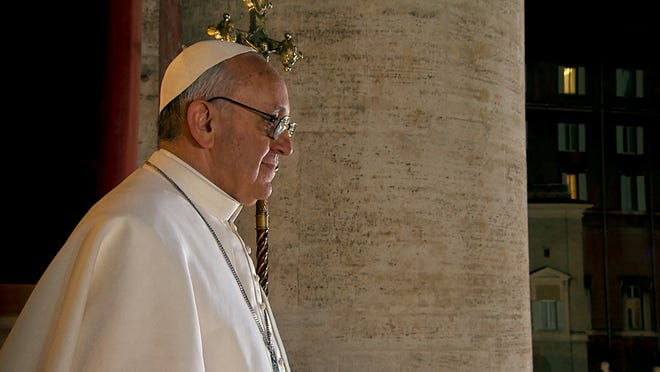 """Pope Francis in Wim Wenders' documentary """"Pope Francis: A Man of His Word,"""" a Focus Features release."""