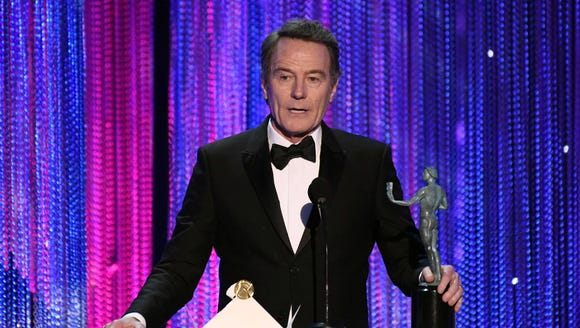 Bryan Cranston accepts the award for Outstanding Performance