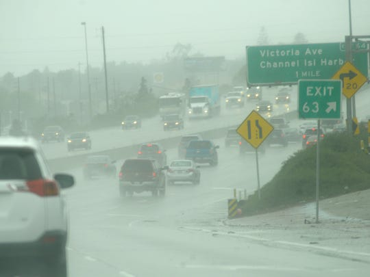 Tuesday's rain got Highway 101 and other roadways wet,