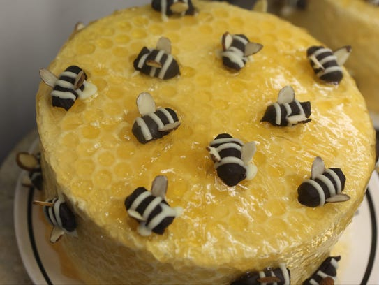 The Honey Bee Cake at The Village Tearoom Restaurant