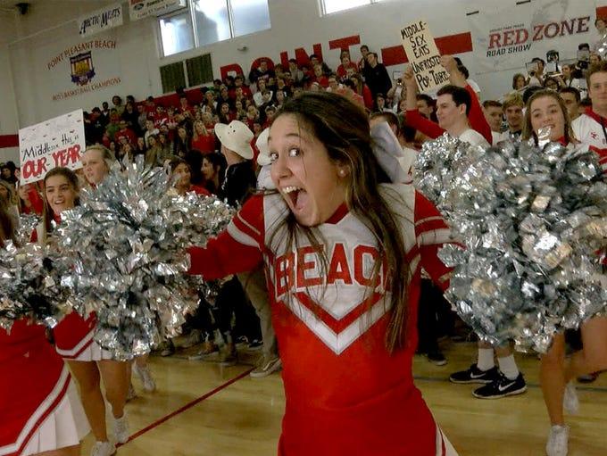 Point Pleasant Beach High School shows their Garnet