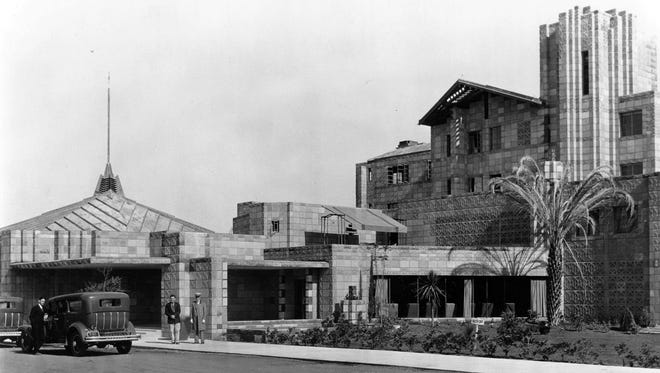 The Arizona Biltmore was constructed by a former Frank Lloyd Wright student in 1929.
