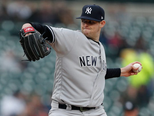 New York Yankees starting pitcher Jordan Montgomery