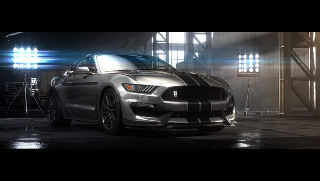 Ford is showing off its hot Shelby GT350 Mustang.
