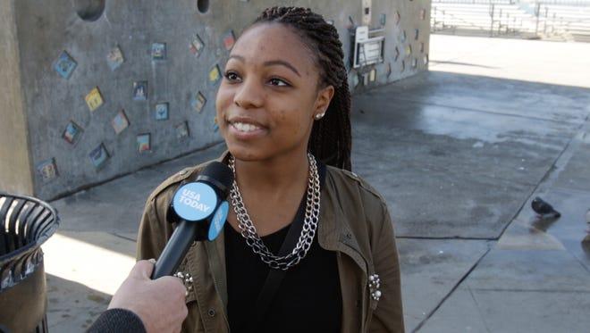 Phyllisa Reams of Long Beach wants a new Apple Watch in 2015