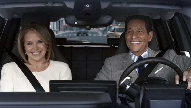 Katie Couric and Bryant Gumble go for a drive in a BMW i3 in this Super Bowl ad
