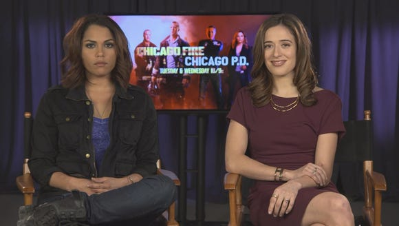 "Monica Raymund (""Chicago Fire"") and Marina Squerciati"