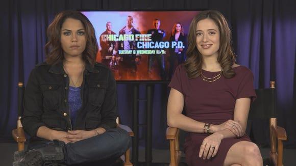 "Monica Raymund (""Chicago Fire"") and Marina Squerciati"