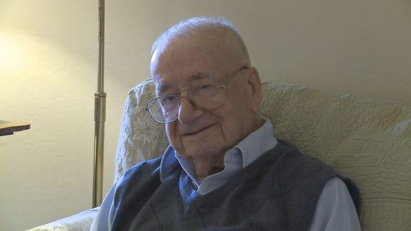 On Wednesday, Feb. 4, 2015, Calvin Quier celebrates his 109 birthday at Trinity Homes of Scottsdale.